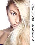 portrait of young beautiful... | Shutterstock . vector #1023822424