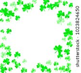 clover background for saint... | Shutterstock .eps vector #1023824650