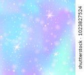 hologram abstract background.... | Shutterstock .eps vector #1023827524