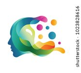 people head logo. human face... | Shutterstock .eps vector #1023828616