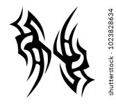 tattoo tribal vector design.... | Shutterstock .eps vector #1023828634
