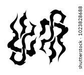 tattoo tribal vector design. | Shutterstock .eps vector #1023828688