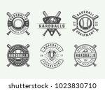 vintage baseball sport logos ...   Shutterstock .eps vector #1023830710