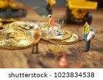 miniature figure people working ...   Shutterstock . vector #1023834538