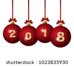 happy new year 2018 design. ... | Shutterstock . vector #1023835930
