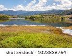 view of beris lake in kedah ... | Shutterstock . vector #1023836764