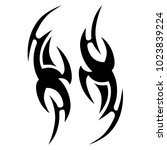 tattoo tribal vector design.... | Shutterstock .eps vector #1023839224