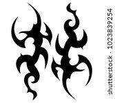 tattoo tribal vector design....   Shutterstock .eps vector #1023839254
