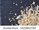 yellow oats pyramid positioned... | Shutterstock . vector #1023842764