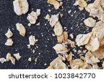 yellow oats pyramid positioned...   Shutterstock . vector #1023842770