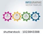 vector infographic template for ... | Shutterstock .eps vector #1023843388