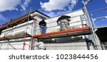 painting works  facade painting  | Shutterstock . vector #1023844456