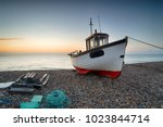 A Working Fishing Boat On The...