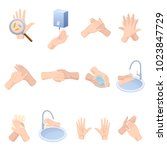 stages proper care of hands ... | Shutterstock .eps vector #1023847729