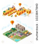 build your own city . set of... | Shutterstock .eps vector #1023847840