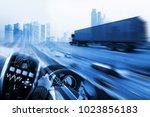 transportation  driving concept ... | Shutterstock . vector #1023856183