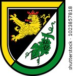 coat of arms of alzey land is a ... | Shutterstock .eps vector #1023857818
