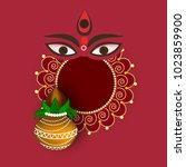 navratri hindu festival design  ... | Shutterstock .eps vector #1023859900