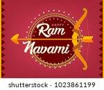 ram navami hindu festival... | Shutterstock .eps vector #1023861199