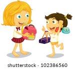 school children getting ready...   Shutterstock . vector #102386560