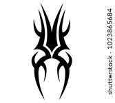 tattoo tribal vector design.... | Shutterstock .eps vector #1023865684