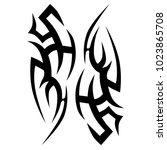 tattoo tribal vector design.... | Shutterstock .eps vector #1023865708
