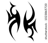 tattoo tribal vector design.... | Shutterstock .eps vector #1023865720