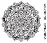 black and white mandala vector... | Shutterstock .eps vector #1023866926