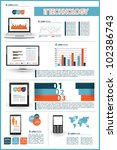 modern infographics set and... | Shutterstock .eps vector #102386743