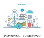bank deposit concept. financial ... | Shutterstock .eps vector #1023869920