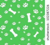 background with dog paw print... | Shutterstock .eps vector #102387226