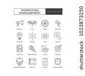 marketing management icon   Shutterstock .eps vector #1023873250