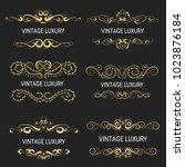 gold decorative frame.vintage...   Shutterstock .eps vector #1023876184