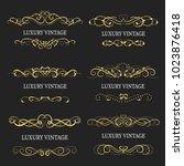 gold decorative frame.vintage...   Shutterstock .eps vector #1023876418