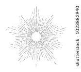retro sun bursts  vintage... | Shutterstock . vector #1023882940