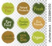 fresh raw food  eco friendly... | Shutterstock .eps vector #1023884350