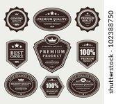 vintage labels set. vector... | Shutterstock .eps vector #102388750