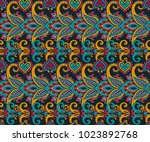 vector seamless pattern with... | Shutterstock .eps vector #1023892768