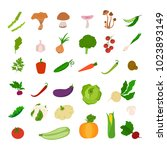 fresh vegetables set. tomatoes...   Shutterstock . vector #1023893149