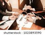 detailed consultation between... | Shutterstock . vector #1023893590