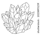 hand drawn crystal for coloring ... | Shutterstock .eps vector #1023895159