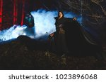 witch hunter photo shoot of a... | Shutterstock . vector #1023896068