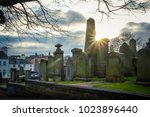the photo of cemetery without... | Shutterstock . vector #1023896440