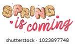 spring is coming. cookies... | Shutterstock .eps vector #1023897748