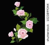 flowers. vector illustration | Shutterstock .eps vector #1023899344