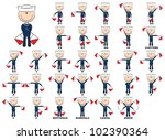 semaphore flag positions for... | Shutterstock .eps vector #102390364