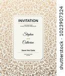 vintage wedding invitation... | Shutterstock .eps vector #1023907324