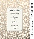 vintage wedding invitation... | Shutterstock .eps vector #1023907330
