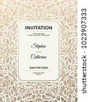 vintage wedding invitation... | Shutterstock .eps vector #1023907333