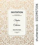 vintage wedding invitation... | Shutterstock .eps vector #1023907336